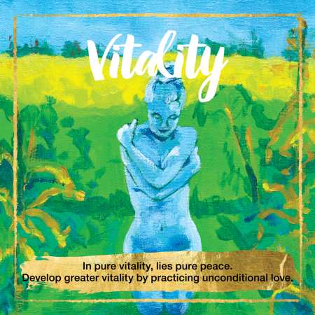Vitality Oracle Cards - In pure vitality, lies pure peace. Develop greater vitality buy practicing unconditional love.